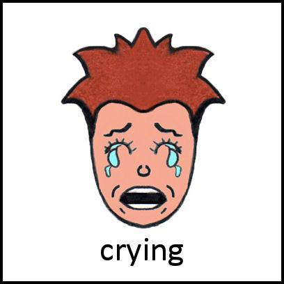 crying pecs card