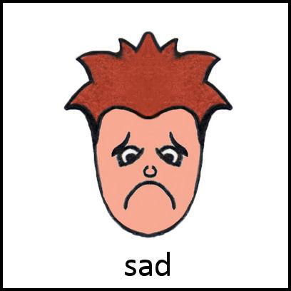 Sad PECS Card