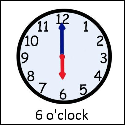 6 O Clock Pecs Card