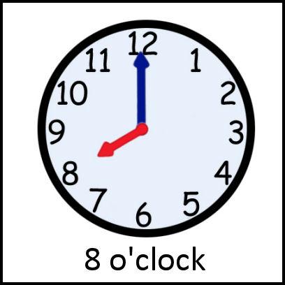 8 o'clock