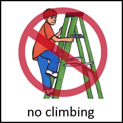No Climbing PECS Card
