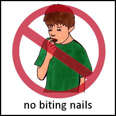 No Nail Biting PECS Card